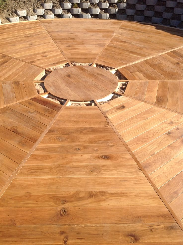 Oak floor under yourt for Yourtent.com Made by Tom Budil