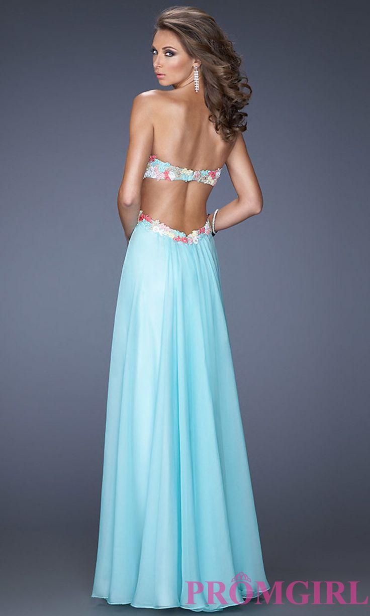 Vestidos de baile, vestidos de la celebridad, los vestidos de noche atractivos: La Femme largo de novia sin tirantes vestido de espalda abierta