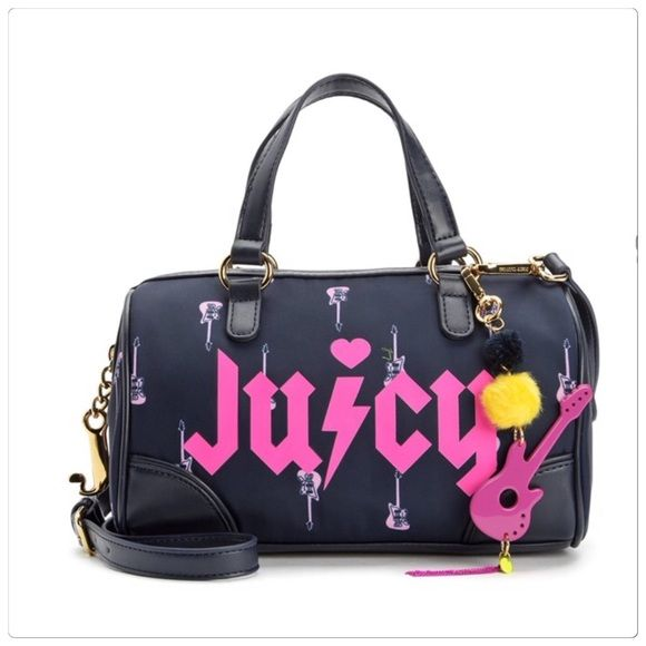 🆕 Juicy Couture steffy rockstar purse Juicy Couture rockstar Steffy purse. Cute guitar print all over. Measures approx 9x5.5x3. Comes with removable strap. Brand new with tags. ☠PRICE IS FIRM! Juicy Couture Bags Satchels