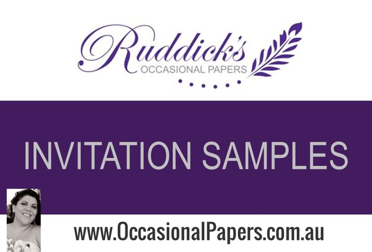 Invitations by Ruddick's Occasional Papers. Details included so you can recreate the look with ease.