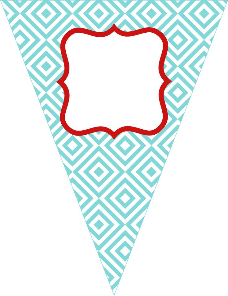 Free printable bunting. love these colors!