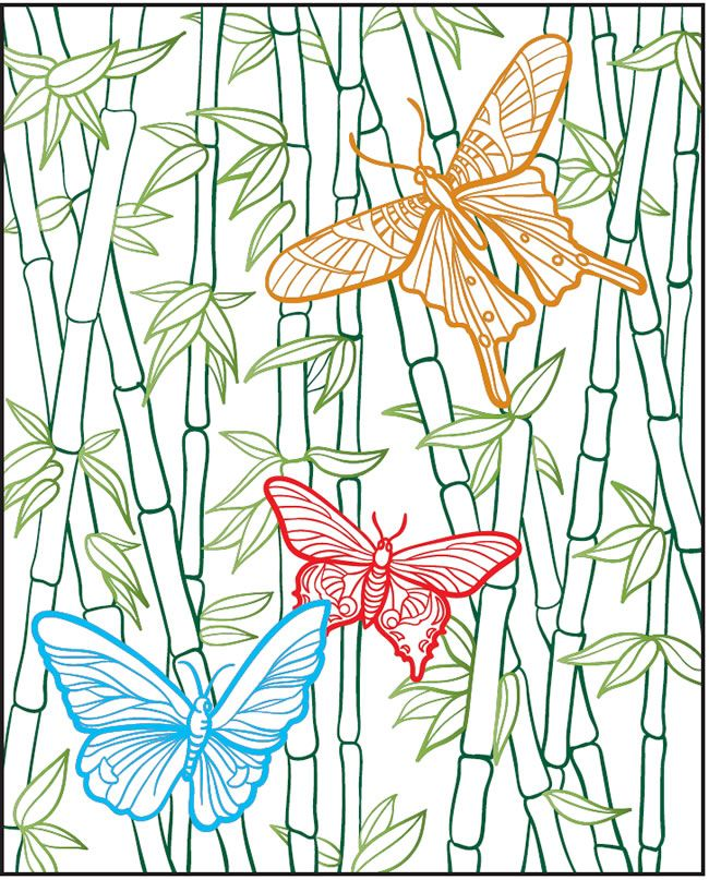 Welcome To Dover Publications Creative Haven Beautiful Butterflies Designs With A Splash Of Color Adult Coloring