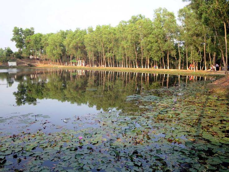Madhabpur Lake near Srimongal, Bangladesh, is a popular tourist destination.