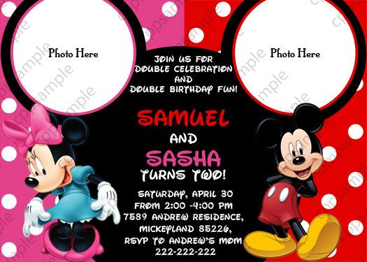 17 best images about Mickey Minnie Bday – Mickey and Minnie Party Invitations