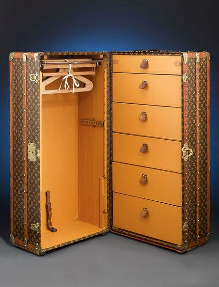Vintage Louis Vuitton Wardrobe Trunk.