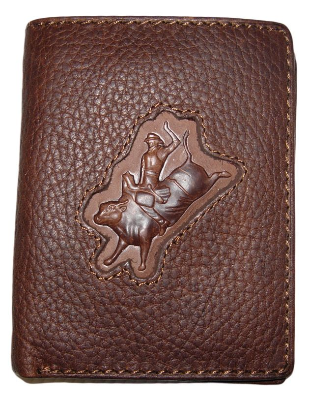 Mens Leather Wallet |Distressed Leather | Bull Rider | Rodeo