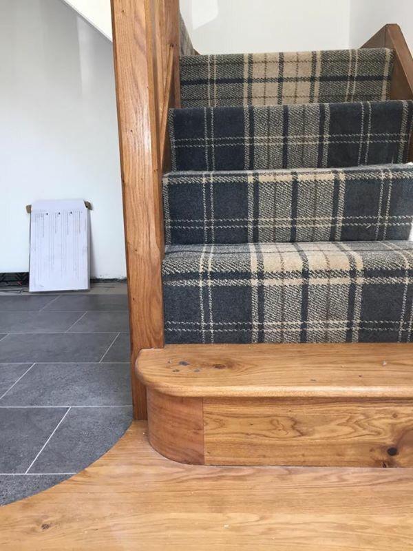Karndean with tartan carpet