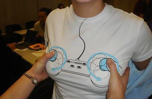 t-shirt sein jeux video