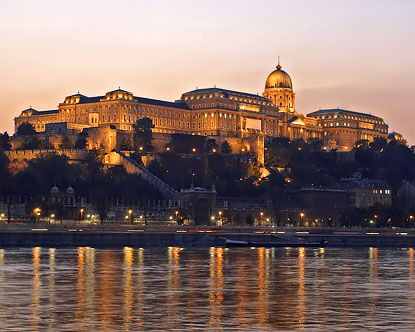 The spectacular Royal Palace Budapest sits high atop ...