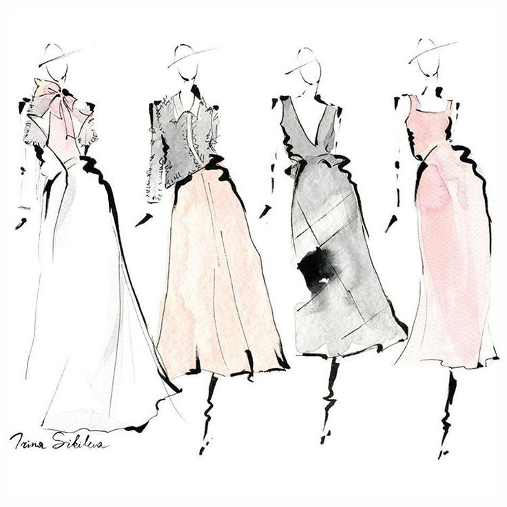 Some of My Favorites from Carolina Herrera Fall 2016 Ready To Wear  /  Fashion illustration, by Irina Sibileva  --------------------  #IrinaSibilevaDraws‬ #CarolinaHerrera #NYFW‬ #HERRERALIVE‬ #FW16‬ #fashionillustration‬ #IrinaSibilevaIllustration‬ #DetailsofNYFW‬ #fashionillustrator‬