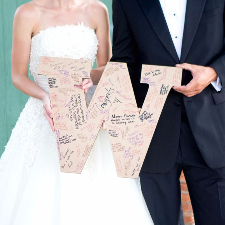 This wedding guestbook monogram can be used as a guestbook to gather the signatures from your wedding guests. Hang it in your home after your wedding day for a lovely decoration that is sure to be lov