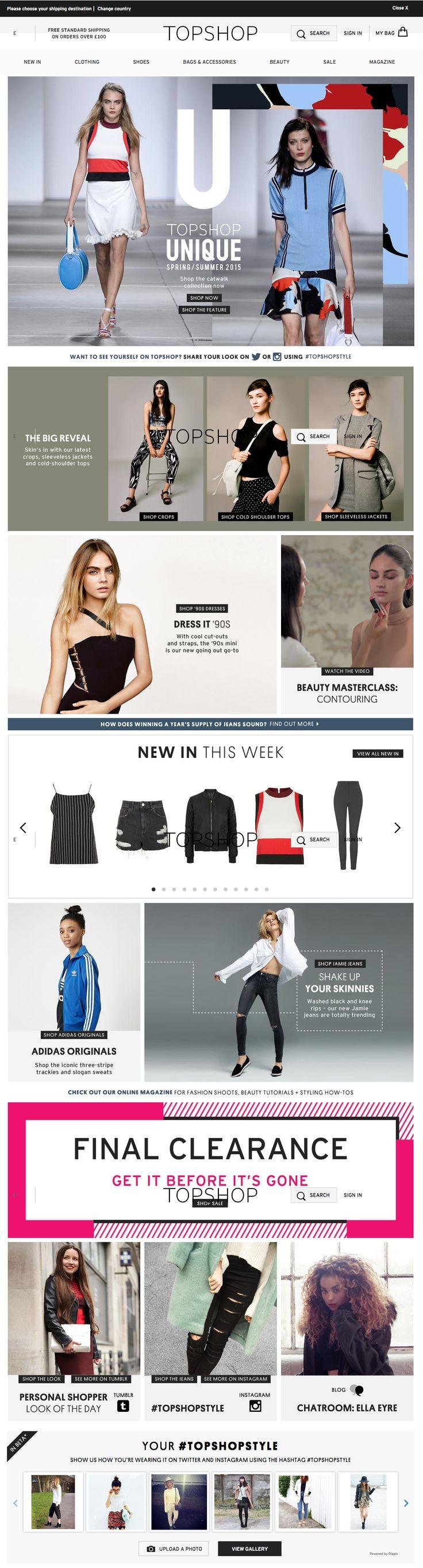 7fbe9b1133202888b7c760486e6fe8fd webdesign inspiration topshop 60 best fashion e commerce design images on pinterest,E Commerce Womens Clothing