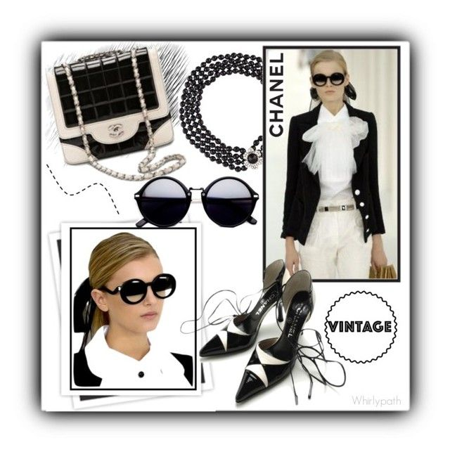 Vintage Chanel! by whirlypath on Polyvore featuring Chanel, GALA and vintage