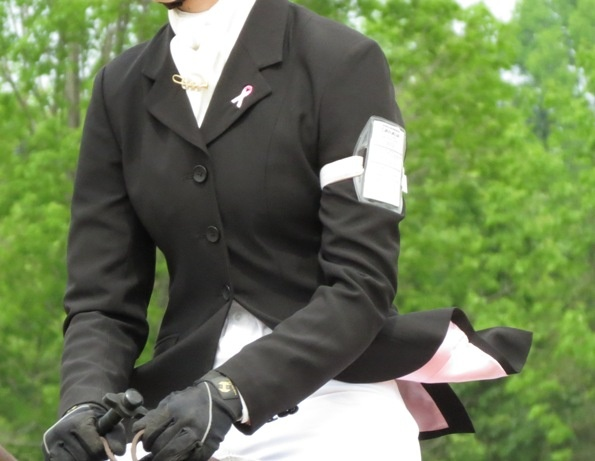 For the Cure show jacket - with pink lining.