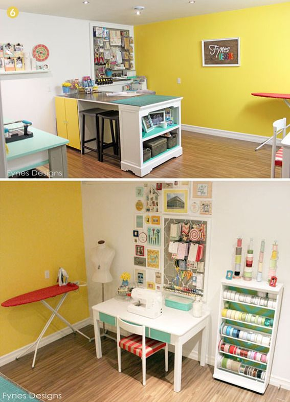 Colorful DIY Craft and Sewing Room Makeover