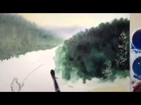 Flyfishing and Fog Part 1 - Good instruction using lots of washes