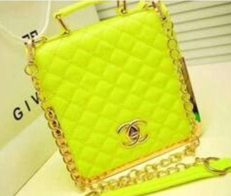 Lime green Chanel bag  dba9e7a6ec