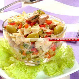 Receita de Salada de atum e macarrão