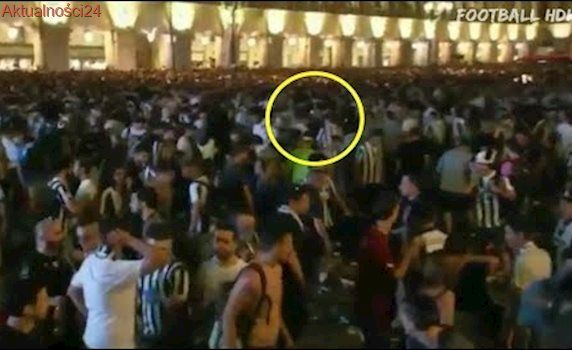 Explosiones en Plaza San Carlos de Turin durante la Final Juventus vs Real Madrid