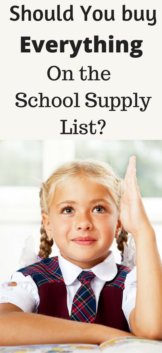 Should you buy all the school supplies on the list? Save on school supplies? School supplies on a budget