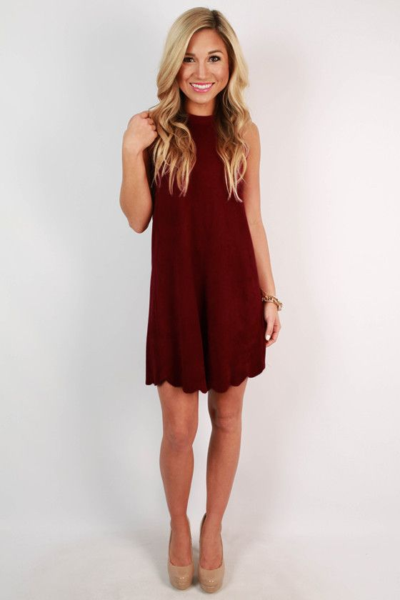 Pair this faux suede shift dress with booties for a chic look that'll have you at the center of attention!