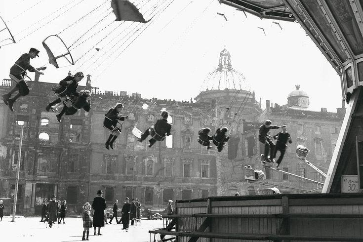 Henry Ries    ::    Carousel in the Lustgarten, Berlin, 1946