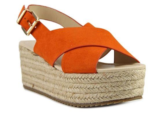 Women's Women Beachy Wedge Sandal - FINAL SALE -Orange - Orange