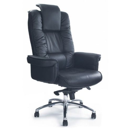 luxurious leather faced gull wing executive heavy duty arm