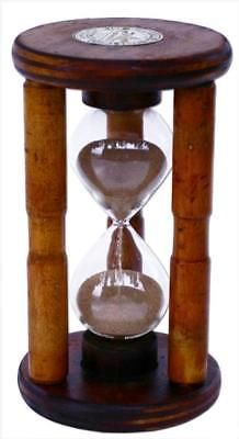 Antique-Wood-Hourglass-Sand-Timer-Five-Minute-Hourglass