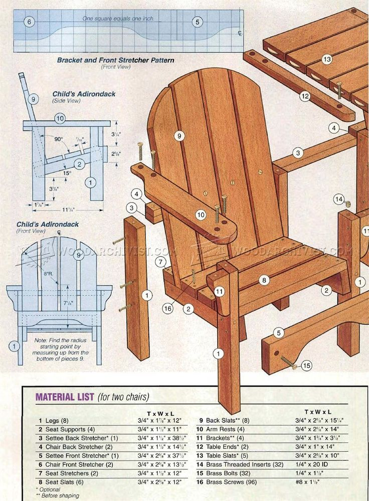 42 best Child's Chair Plans images on Pinterest | Children ...