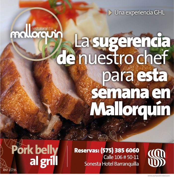 #Lasugerenciadelchef Carlos A, García para esta semana en Restaurante Mallorquín, por $ 26.000