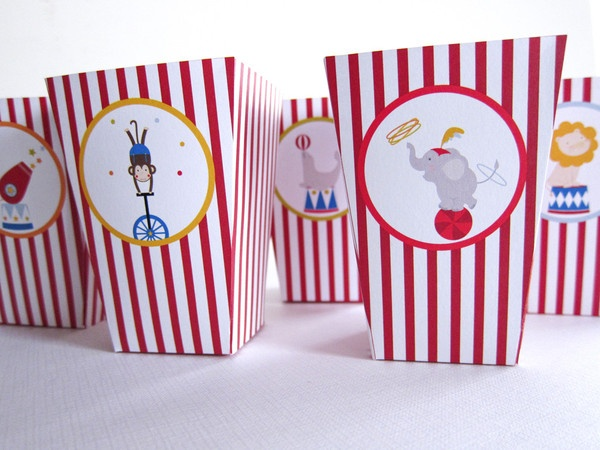 Circus Party Kit ~ Treat Boxes