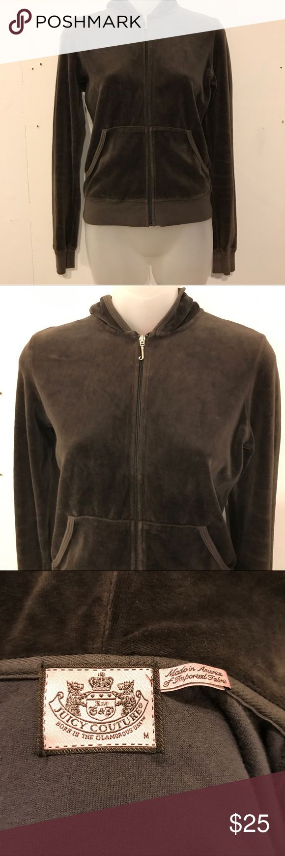 Juicy couture hoodie Brown velour juicy couture zip up hoodie Juicy Couture Sweaters