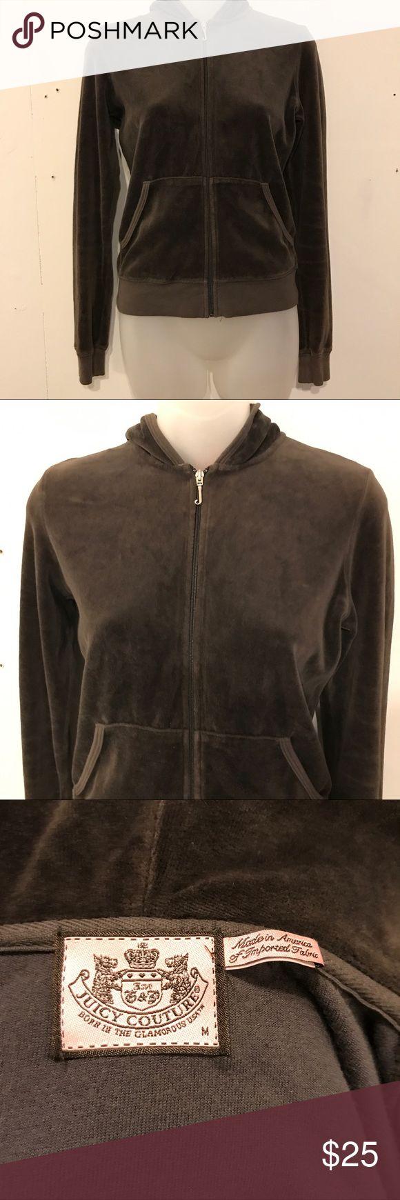 Juicy couture hoodie Brown velour juicy couture zip up hoodie Juicy Couture Sweaters
