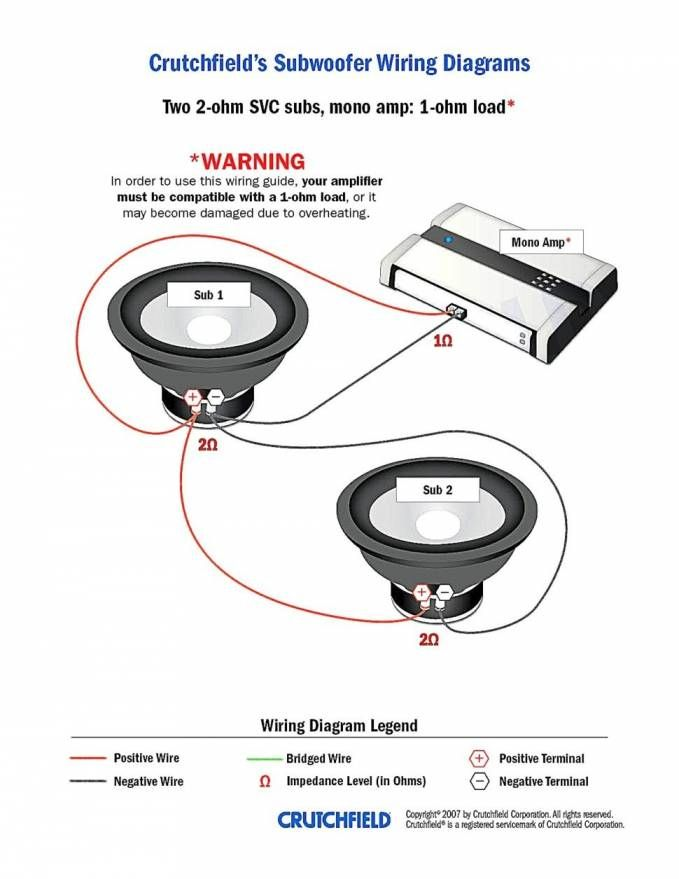 18+ Dual 4 Ohm Sub Wiring in 2021 | Subwoofer wiring, Wiring speakers, Car  audio installationPinterest
