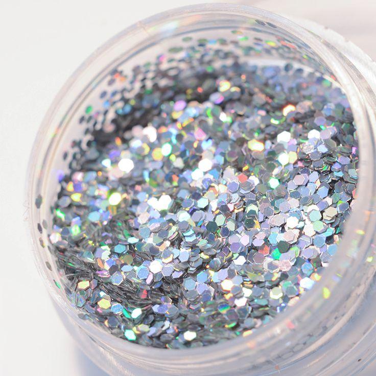 1 Box Holographic Glitter Powder Shiny Holo Nail Glitter Dust Powder Manicure DIY Nail Art Decoration