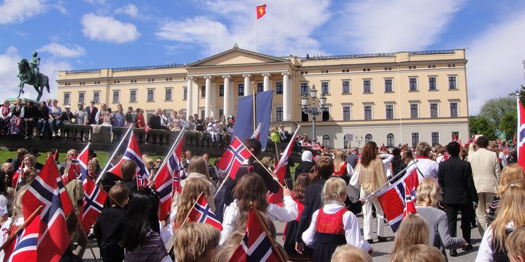 Marching bands, parades, traditional costumes and ice cream. A lot of ice cream. The celebration of the national day is a party like no other in Norway.