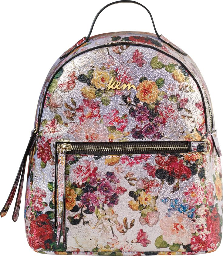 Kem back pack flower passion metallic collection S/S '18 #papakfroufrou