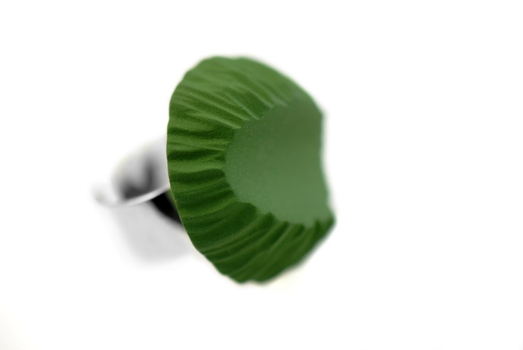 //New ring - 2012//  Colored porcelain & Sterling Silver