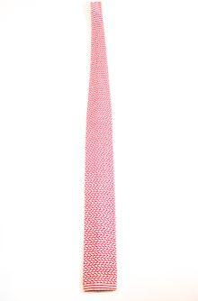Square knit silk tie