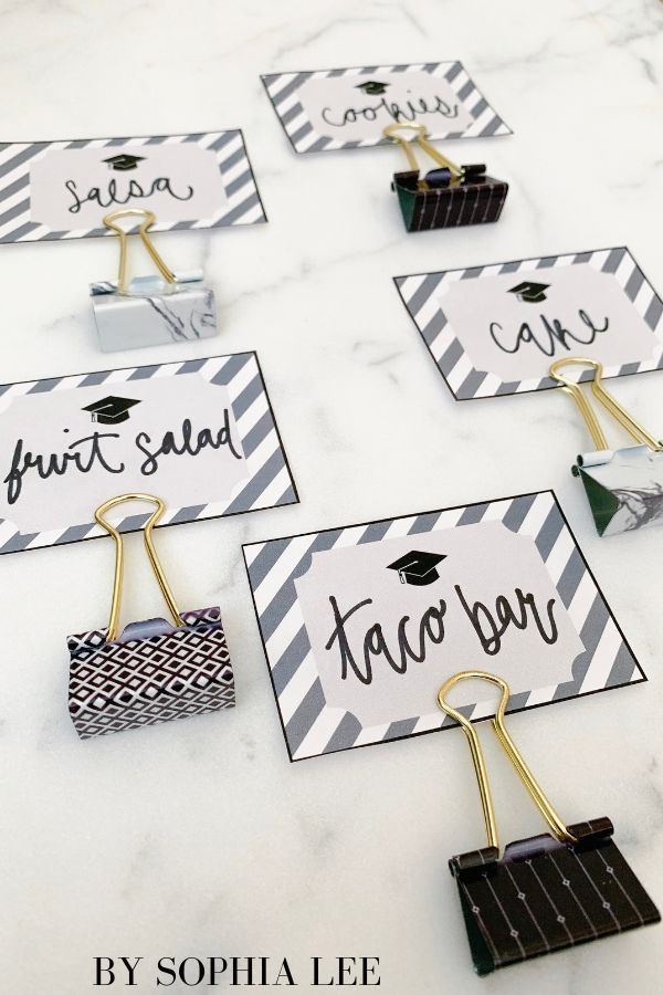 Free Printable Graduation Party Food Labels