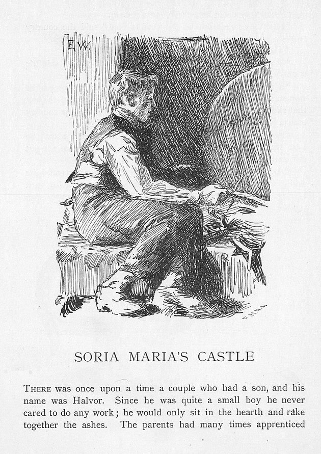 an analysis of the folk tale soria moria castle In their journey to soria moria castle, lizzie and louis take the wrong road, a course separated from people and ending ultimately in futility nor is the castle found in the boat of longing nils vaag does enter the path leading to soria moria and comes closer to happiness than do the houglums.