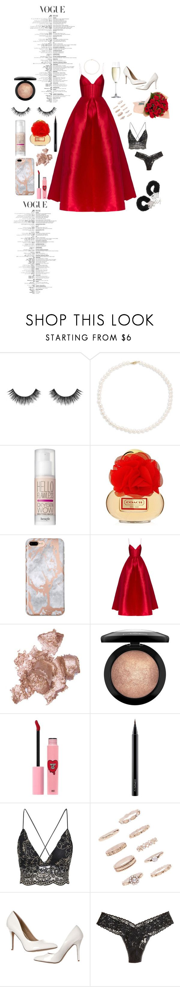 """Anniversary Date"" by lavendersky33 ❤ liked on Polyvore featuring Velour Lashes, Tara, Benefit, Alex Perry, By Terry, MAC Cosmetics, 3 Concept Eyes, Spiegelau, Forever 21 and Hanky Panky"