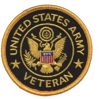 United States Army Veteran Patch Collectible Iron-On High Quality Stitching