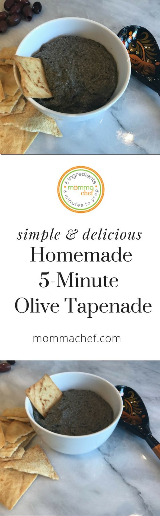 Prepare to impress with this delicious and easy Olive Tapenade recipe. A perfect appetizer for game day or a family get together. This dip is ready in just 5 minutes!