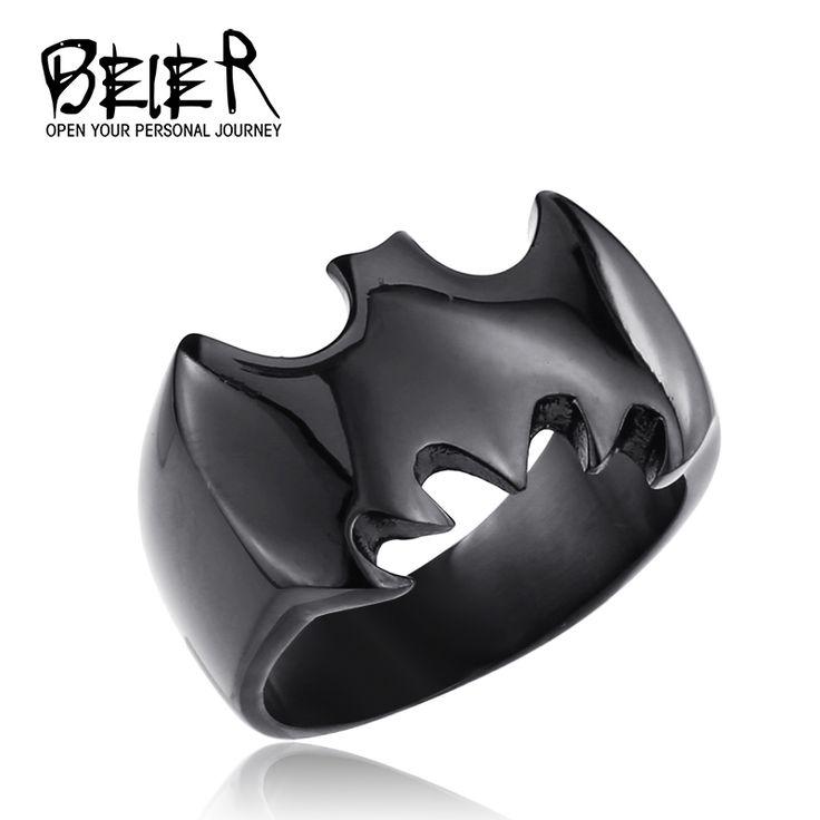 Купить товарЧерный / серебристый / золото бэтмен кольцо полированный из нержавеющей стали логотип ювелирные изделия для человека и мальчик размер сша 6 7 8 9 10 11 12 13 BR6010 в категории Кольцана AliExpress. Добро пожаловать! 1: Мы предоставляем бесплатную способ доставки, но вы, возможно, потребуется больше времени, чтобы п