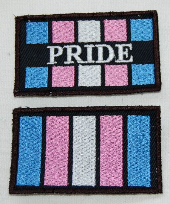 Transsexual Trans Pride Flag embroidered by PufferfishCreations, £5.00