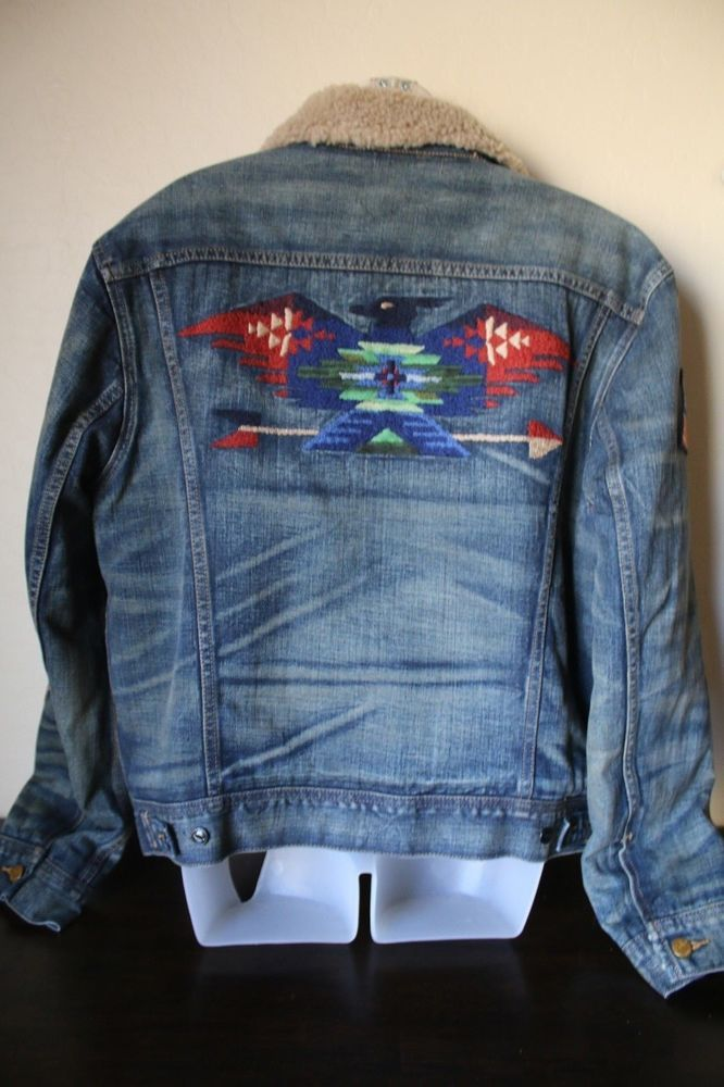 Ralph Denim Lauren Embroidered About Polo Jacket Details Sherpa BCerdox