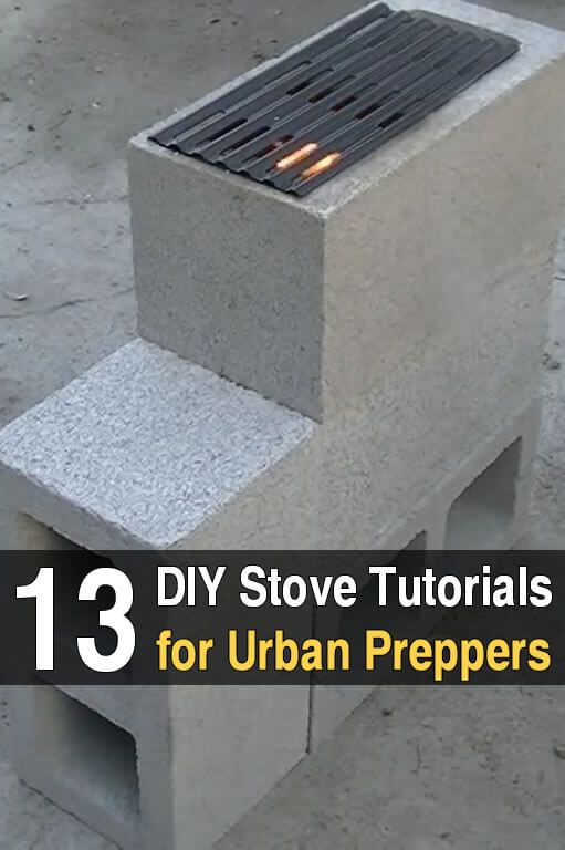 13 DIY Stove Tutorials for Urban Preppers