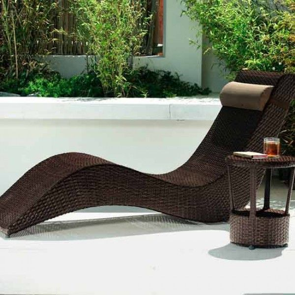 brunswick sun lounger from homebase - Garden Furniture Loungers